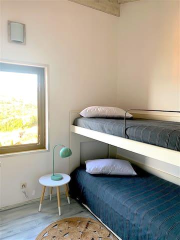 Chambre à deux lits supperposés