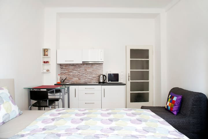 Cosy studio 2 minutes from city centre - Prague - Apartment