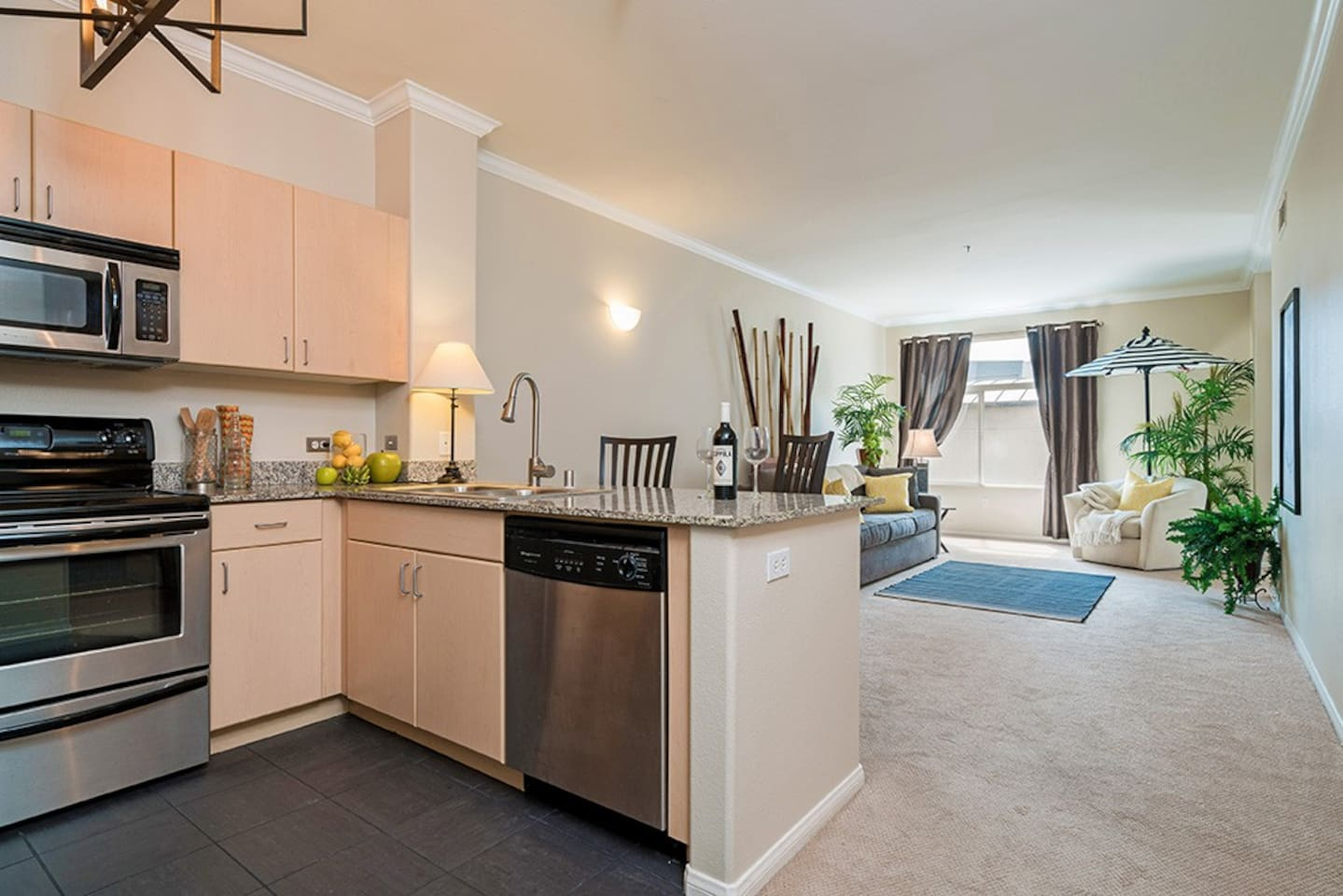 Very spacious and bright this condo offers an open floor plan.