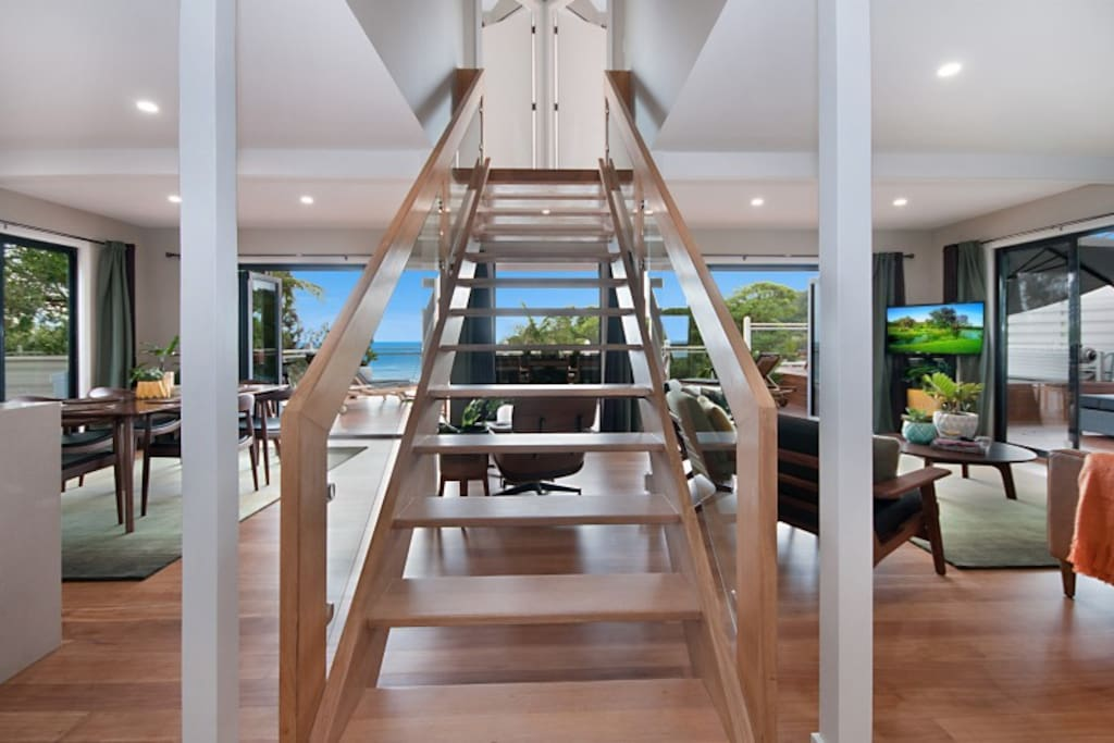 Staircase to Heaven (upstairs bedrooms actually).