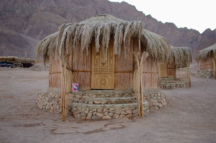 A unique place to stay on the shore of Red Sea.