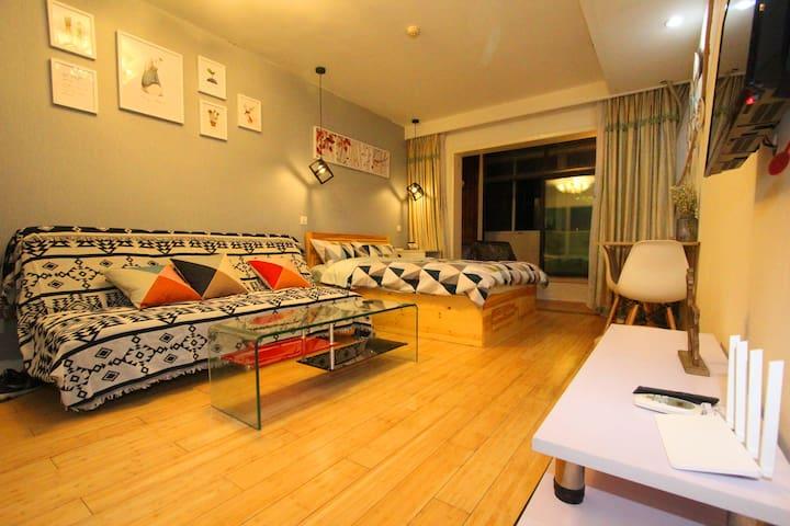 island岛.暖舍,近万象城/五四广场/北欧小筑 - Qingdao - Apartamento