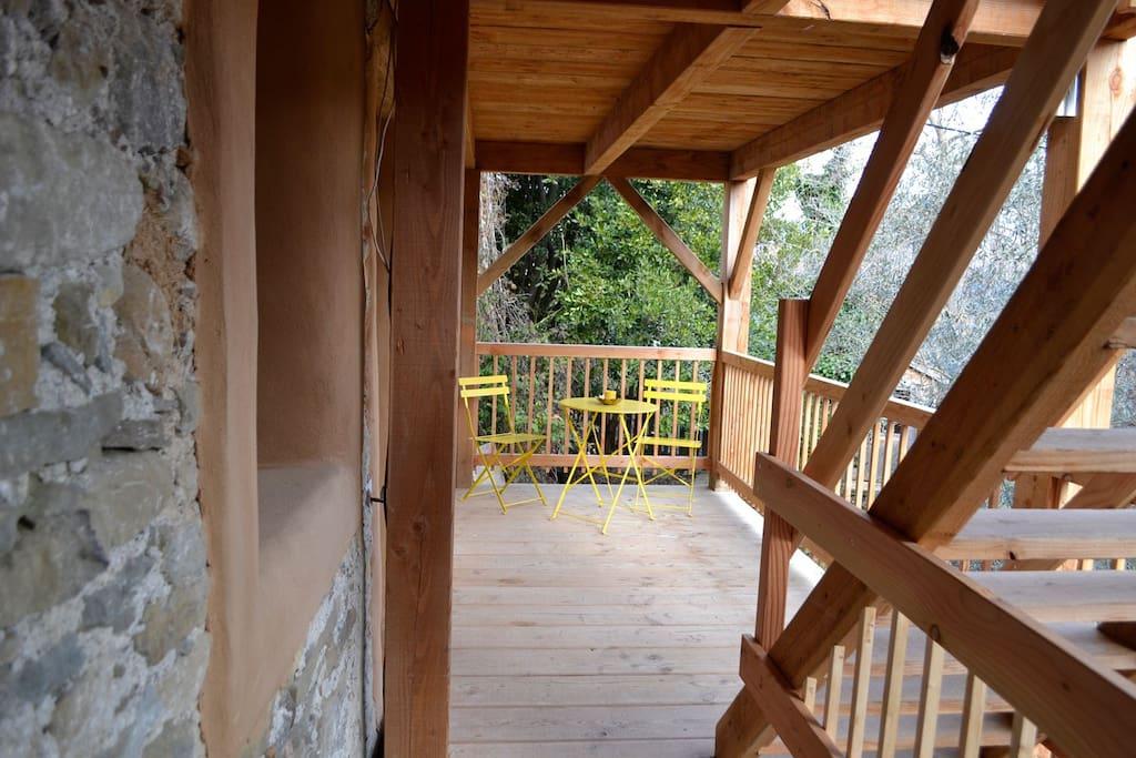 entrée des chambre terrasse