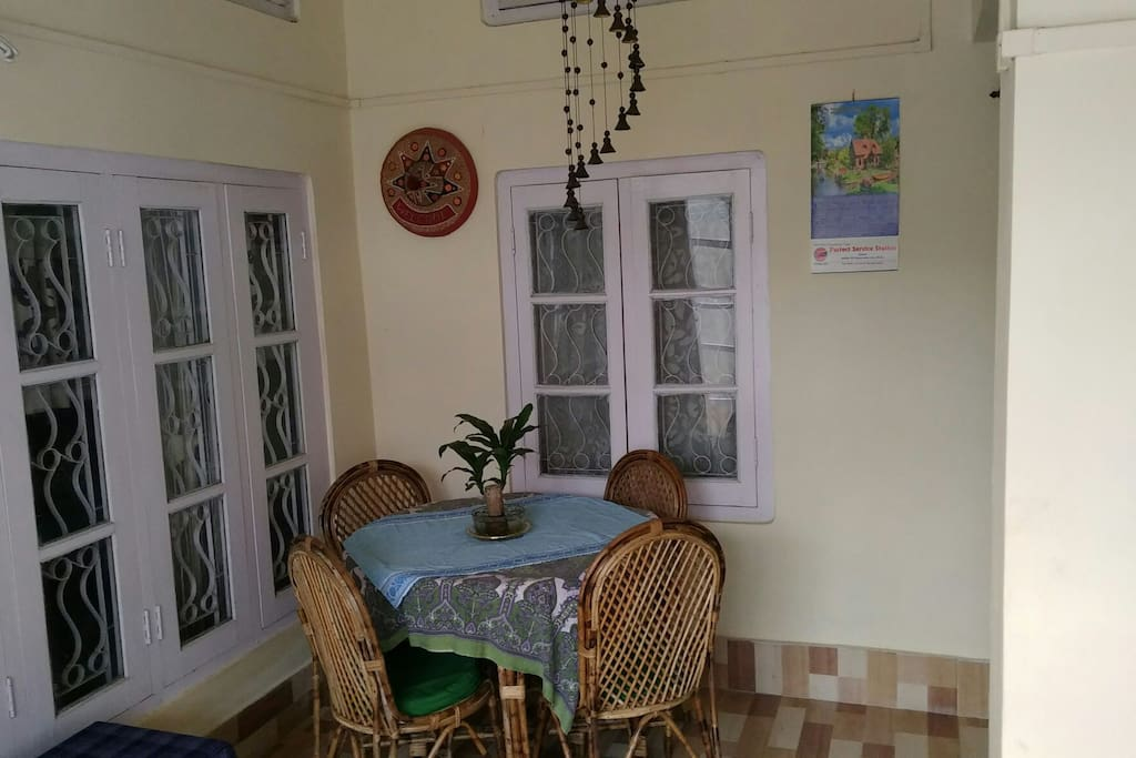 Guest dining space
