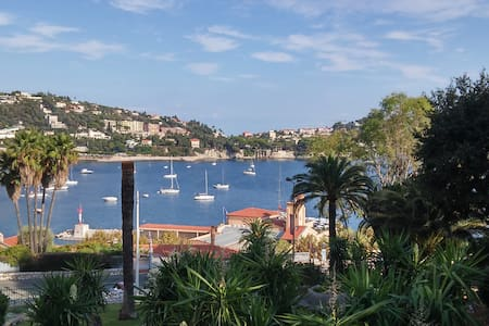 Nice apartment  terrace S/E face garden and sea - Villefranche-sur-Mer