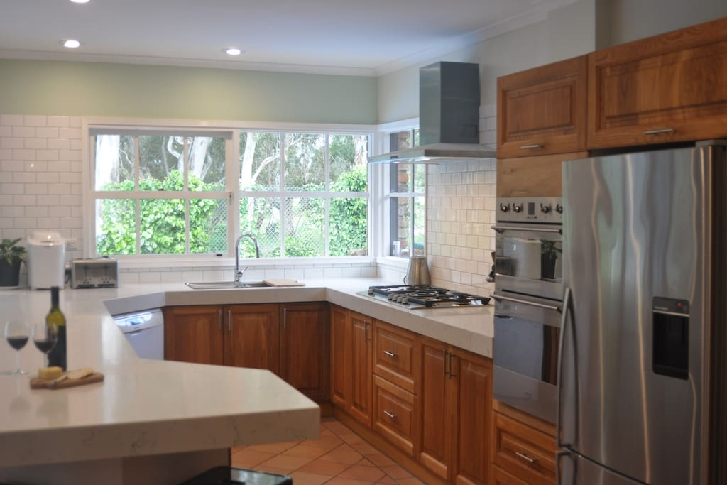 Kitchen with double oven and dishwasher