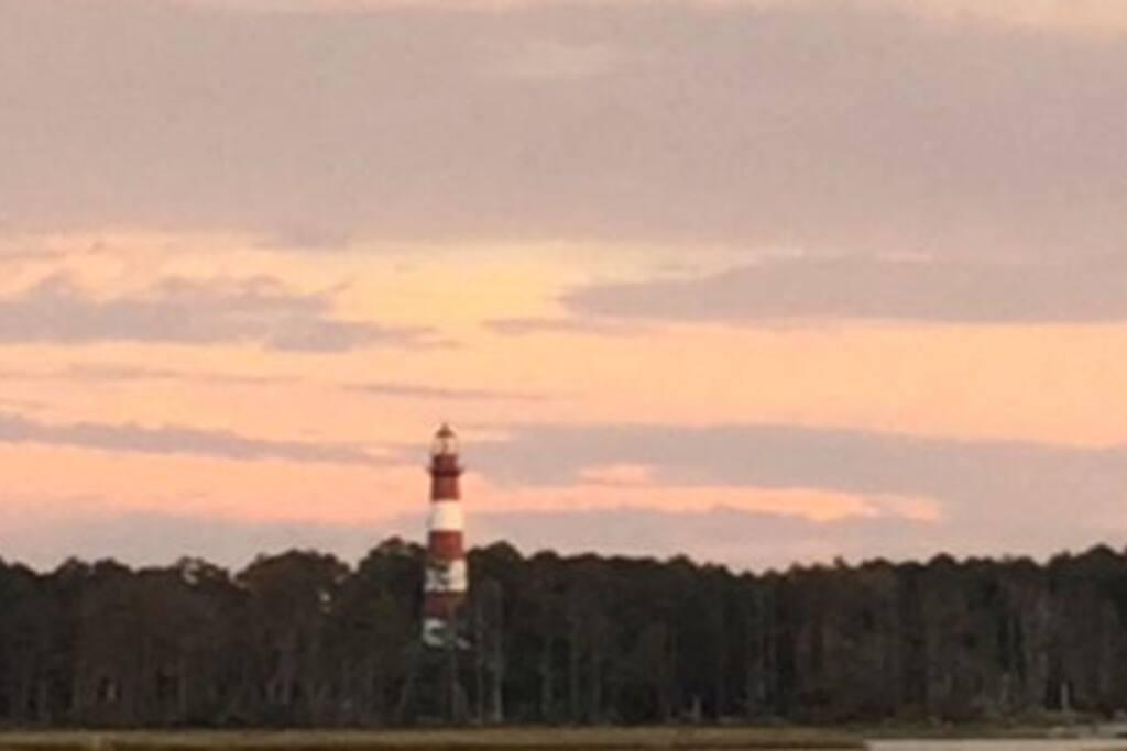 Overlooking assateague lighthouse