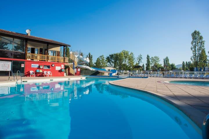 Magnifique mobil home camping 4* piscine chauffée