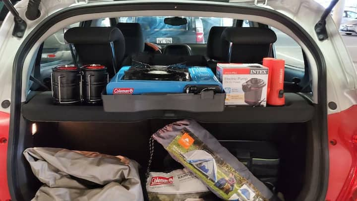 Chevy Spark & Camping Gear, Close Airport.