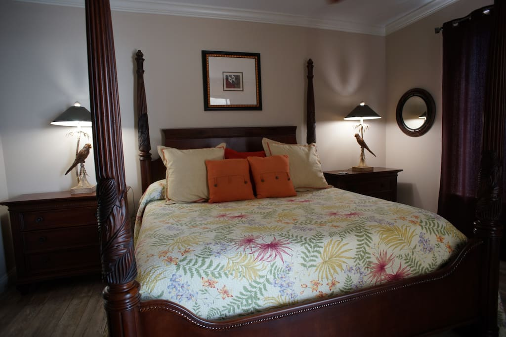 Master Bedroom Features A Hemingway Collection Bed And Nightstands