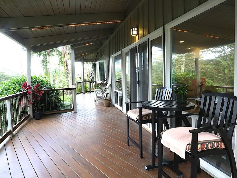 Relax and watch the beautiful falls from the stunning wrap around deck.