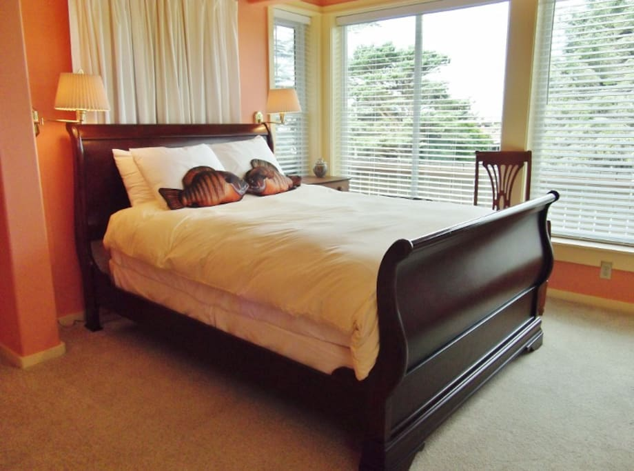 Queen bed in room