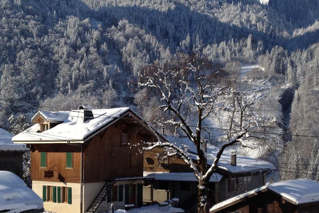 Duplex Chalet Apartment - Ski to door