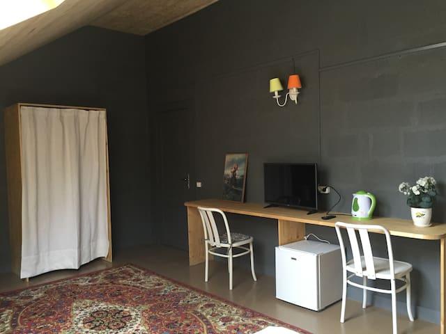 Уютная комната-мансарда для трех человек с ванной - Svetlogorsk - Bed & Breakfast