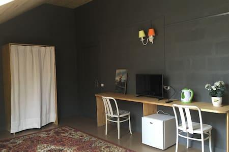 Уютная комната-мансарда для трех человек с ванной - Svetlogorsk