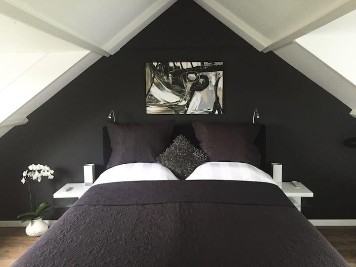 2  luxury studio's with Netflix near Amsterdam & ✈