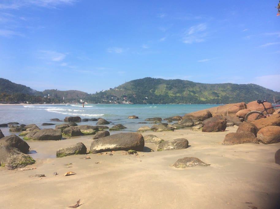 Praia Enseada - a 10 minute walk from house