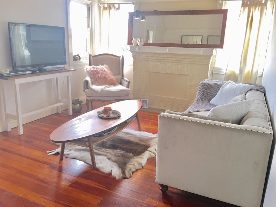 Relax in the sun drenched living room. Watch some apple TV or lay on the reindeer rug.