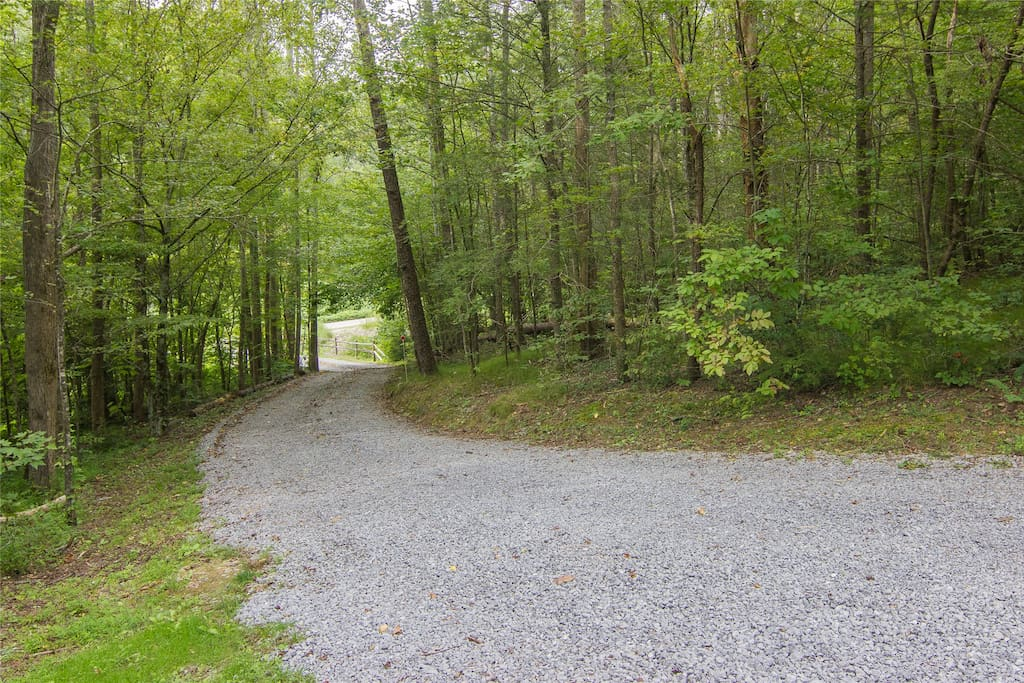 Driveway coming up to cabin