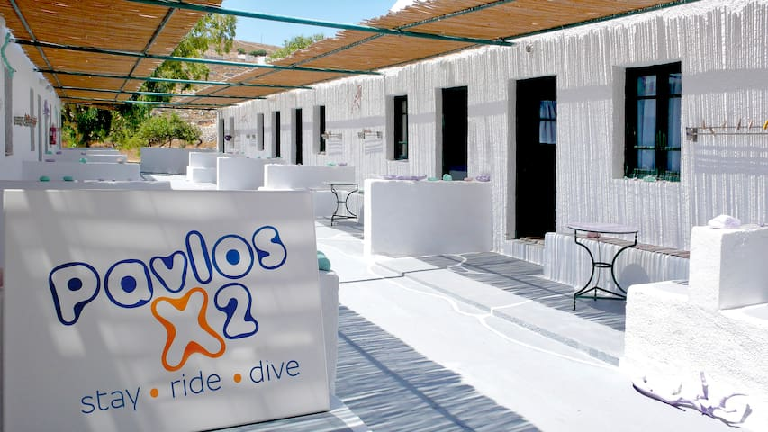 Pavlos X2 Double with double bed - Folegandros - Bed & Breakfast