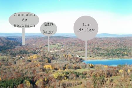 Chalet Le Frasnois à 800 m des Lacs et Cascades - Le Frasnois - Xalet