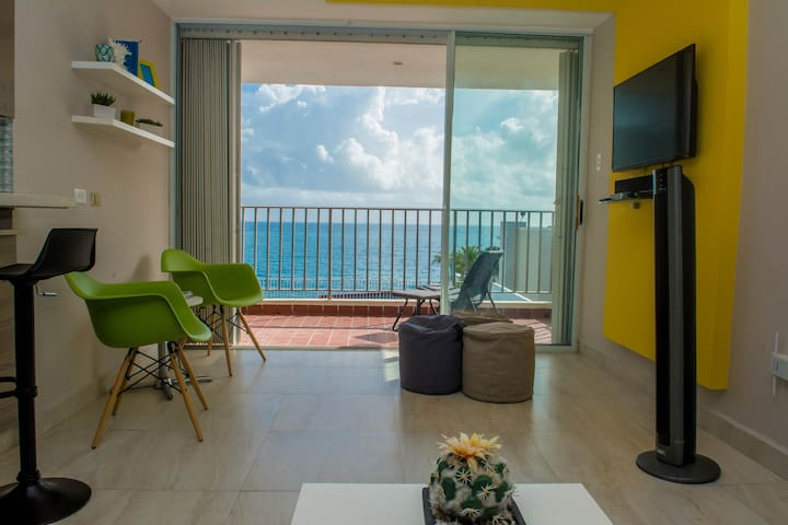 Relaxing Ocean View Apart. in the Heart of Condado - San Juan - Apartment