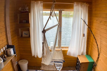"""Bed&Boat """"SWAN"""" two-story boathouse on lake + boat"""