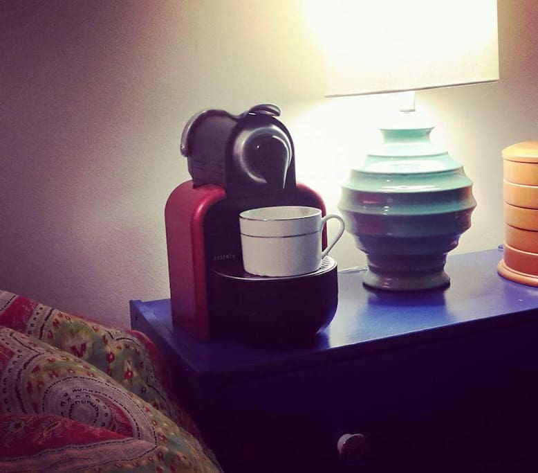 bedside Nespresso? Why not?