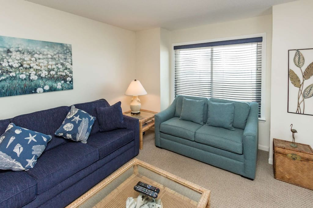 Comfortable living space for family vacation.