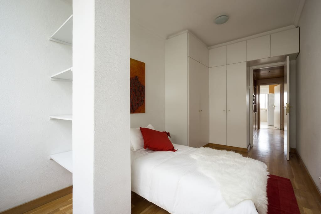 Second bedroom. Bed opens to double bed.