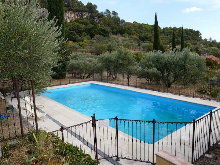 Maison provençale, charme, piscine, pleine nature