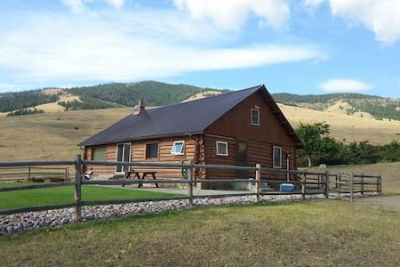 Log cabin on a 10,000 acre remote working ranch