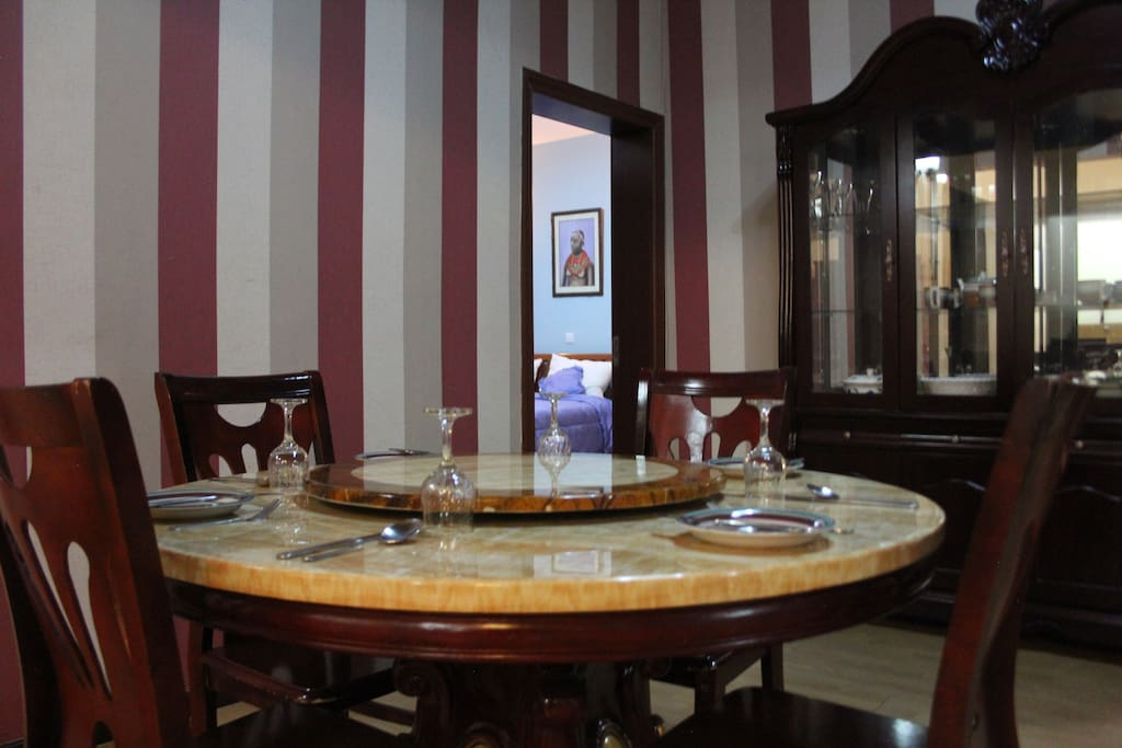Dining area view from large room