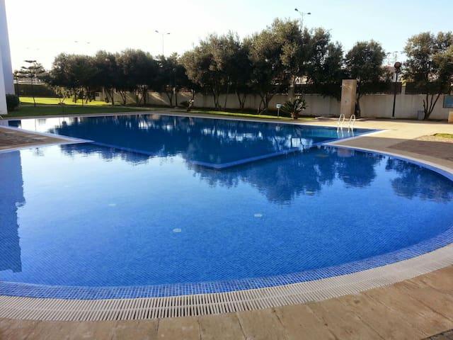 Appartemant calme securise piscine - Harhoura - Daire