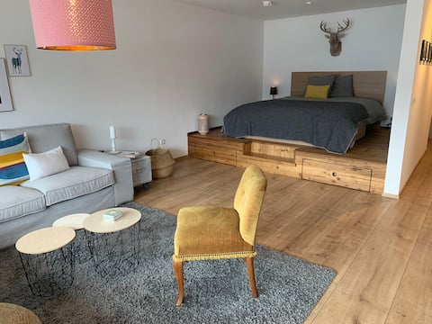 Neu renoviertes Studio mit Balkon & Watzmannblick