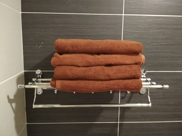 Fresh Quality Towels provided.