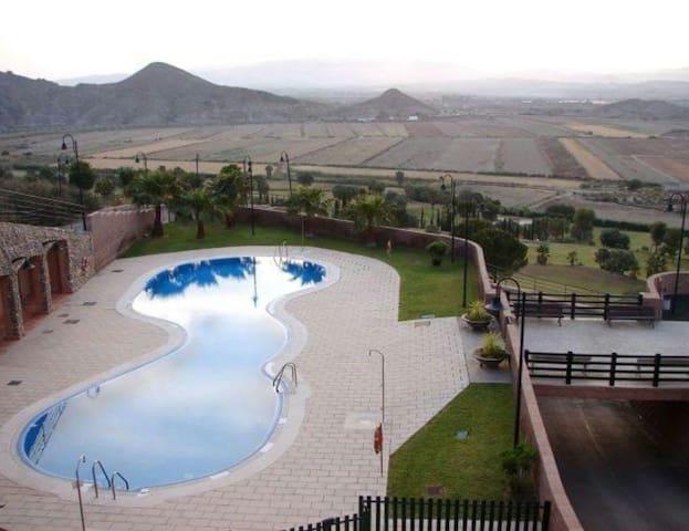 Terrazas con vistas al Mar y al Campo de golf - Mojácar - Appartement