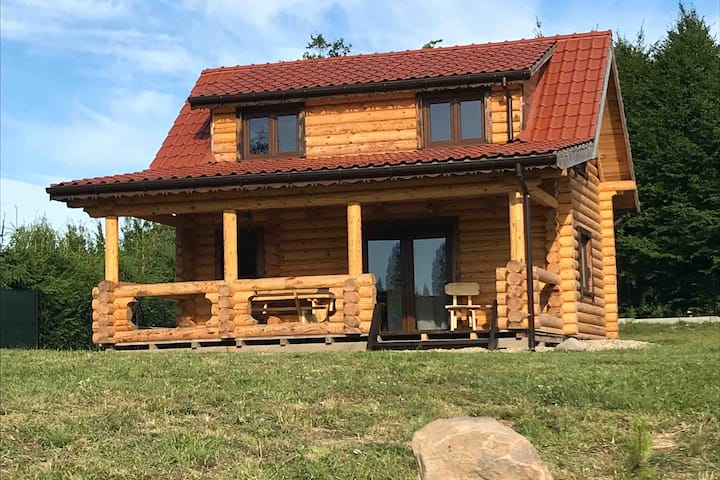 Mazury, Private cabin with a pond, Peace and quiet
