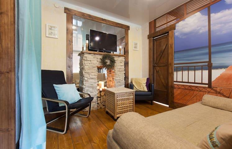 Квартира с гостиной и 2 спальнями