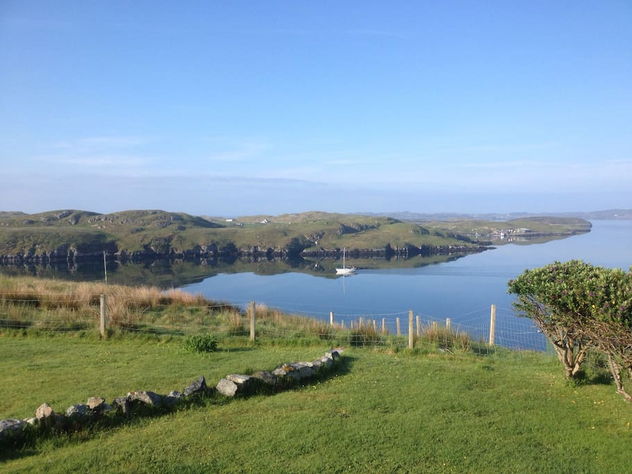 View looking across to Scalpay from garden