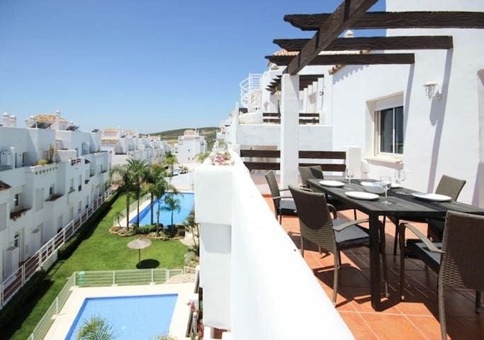 Front line golf penthouse apartment Valle Romano