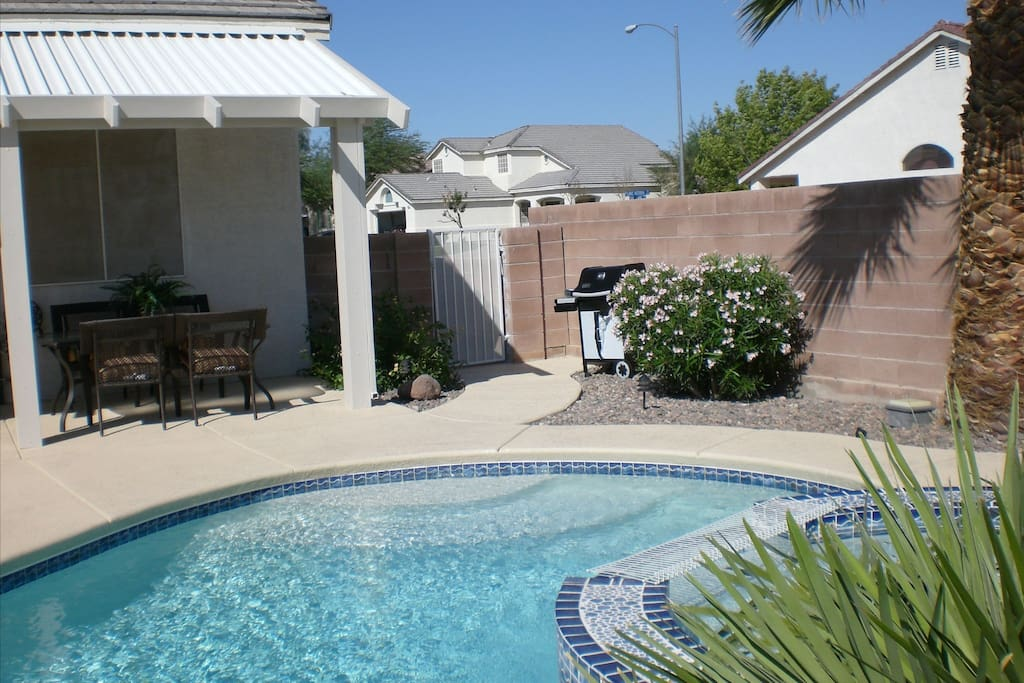 Covered patio, BBQ provided