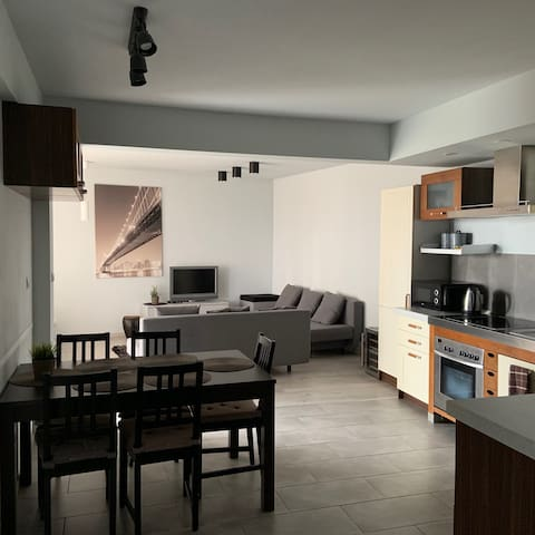 Wygodny i stylowy apartament w zielonej scenerii