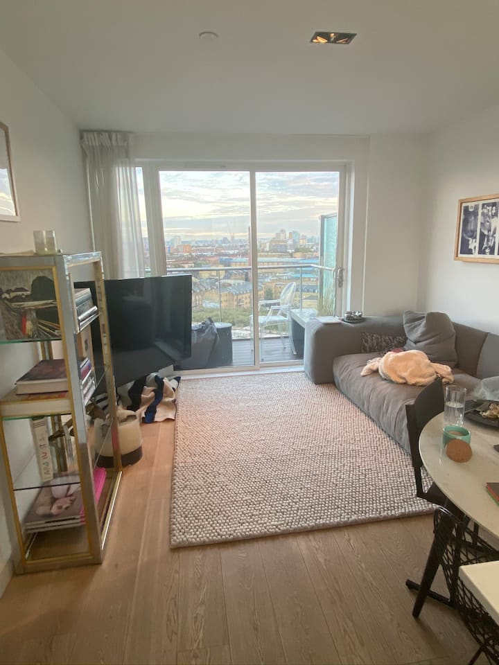 Flat with stunning view right by Brick Lane