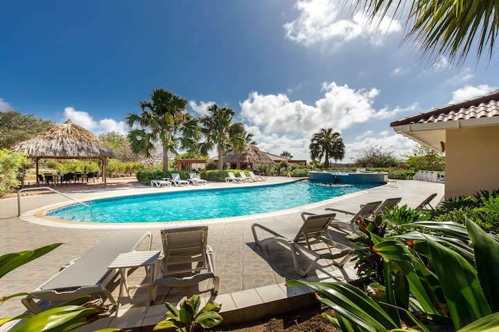 🌴Spacious Rustic 3BR Villa w/ Pool & Gym ☀️🐠