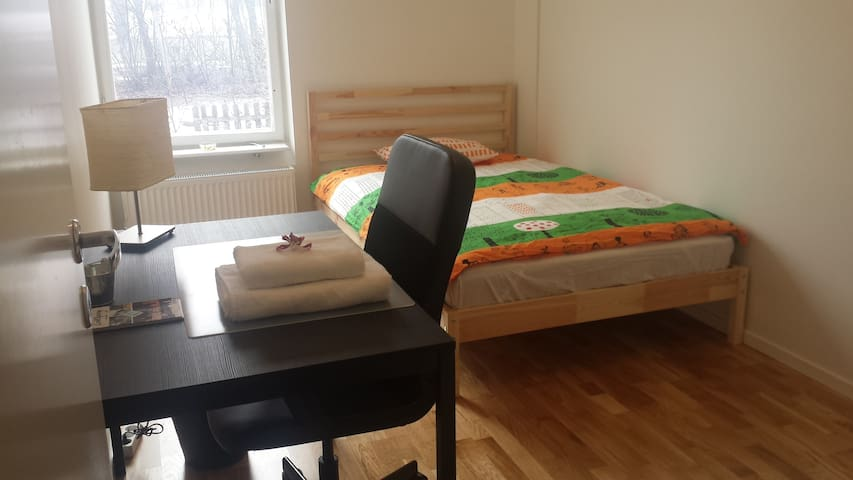Bright, friendly room in a three-room apartment - Linköping - Apartamento