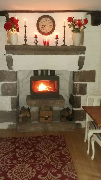 Traditional Granite Fireplace