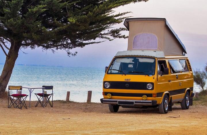 Van Combi Camping-car Oléron Islands sea view