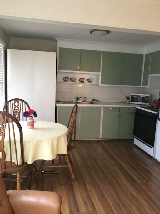 Kitchen with eating space for 4