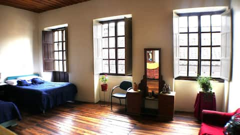 Sunny central rooms in historic house
